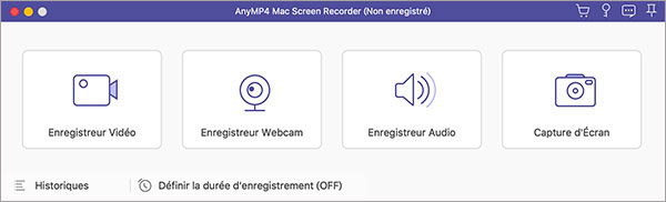 AnyMP4 Mac Screen Recorder Interface