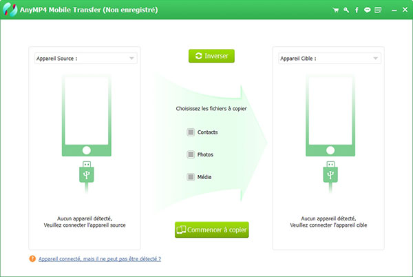 Interface de Mobile Transfer