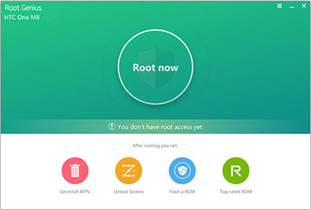 Rooter l'appareil Android avec Root Genius