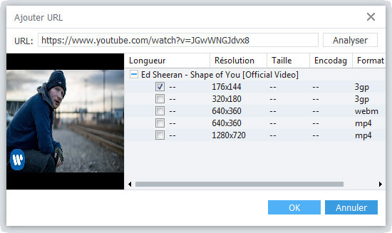 Analyser l'URL YouTube